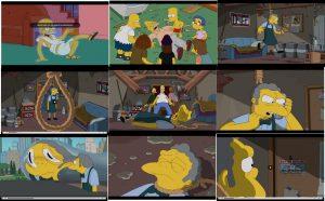 Ilustracja 11: Kadry z omawianego odcinka serialu The Simpsons